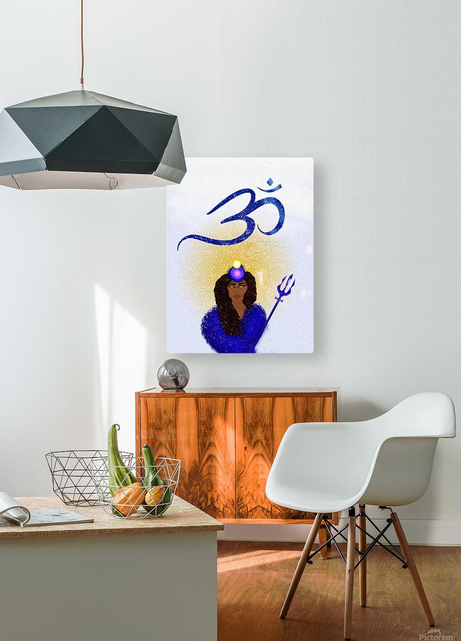 Om Goddess  HD Metal print with Floating Frame on Back