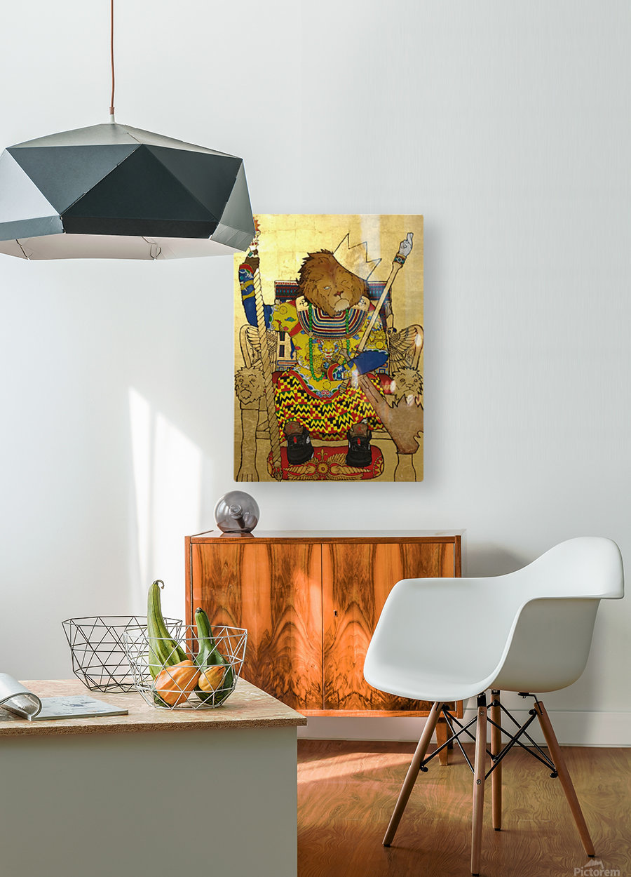 The King of The Jungle  HD Metal print with Floating Frame on Back