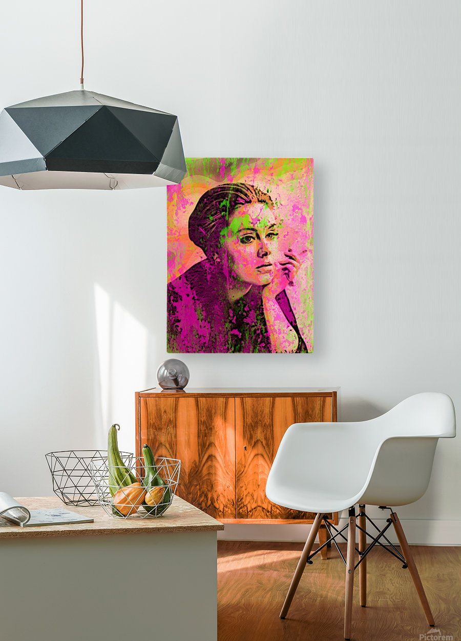 ADELE  HD Metal print with Floating Frame on Back