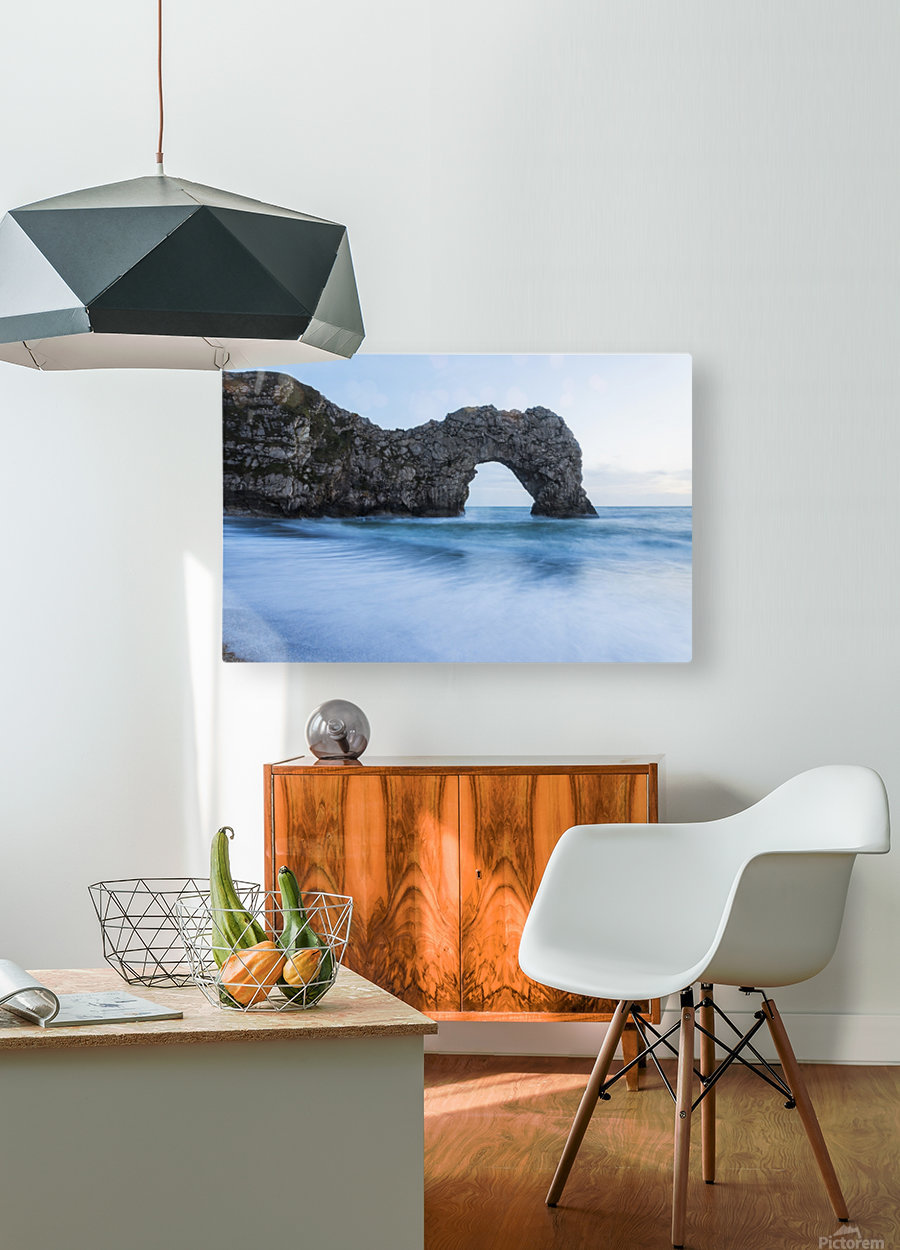 DURDLE DOOR DUSK 2.  HD Metal print with Floating Frame on Back