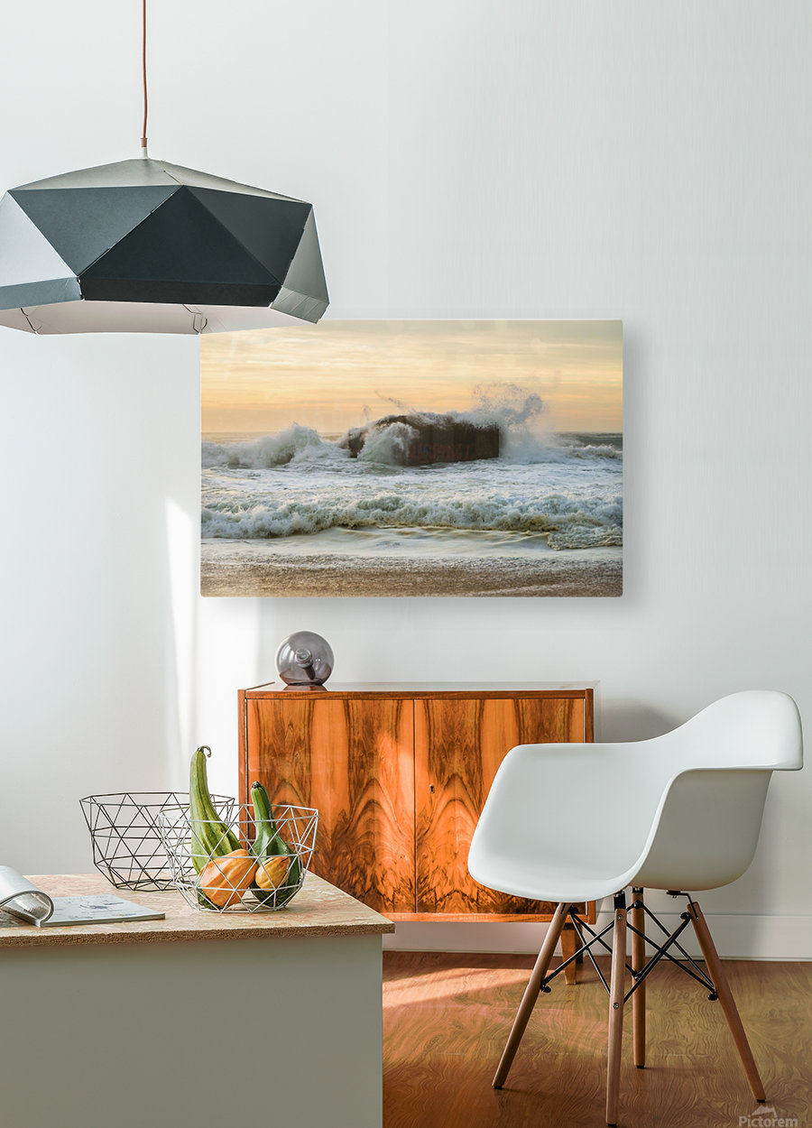 SEA BUNKERS   HD Metal print with Floating Frame on Back