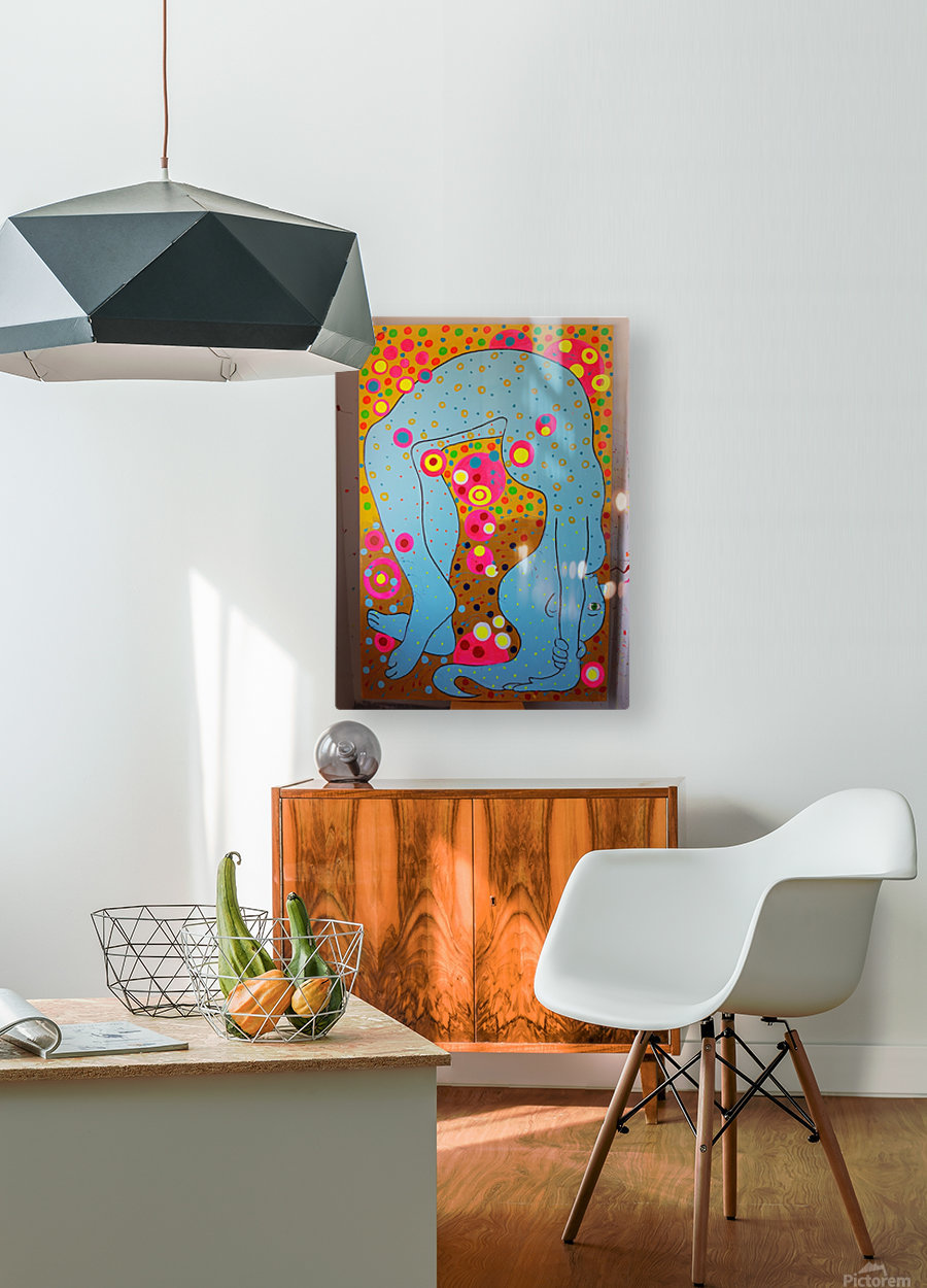 flexible  HD Metal print with Floating Frame on Back