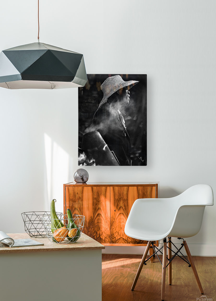 Roasted chestnuts_bnw  HD Metal print with Floating Frame on Back