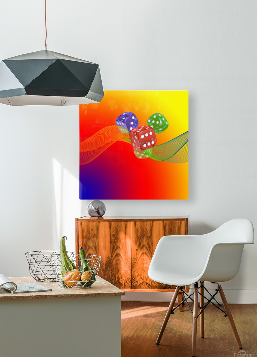 Dice 2  HD Metal print with Floating Frame on Back