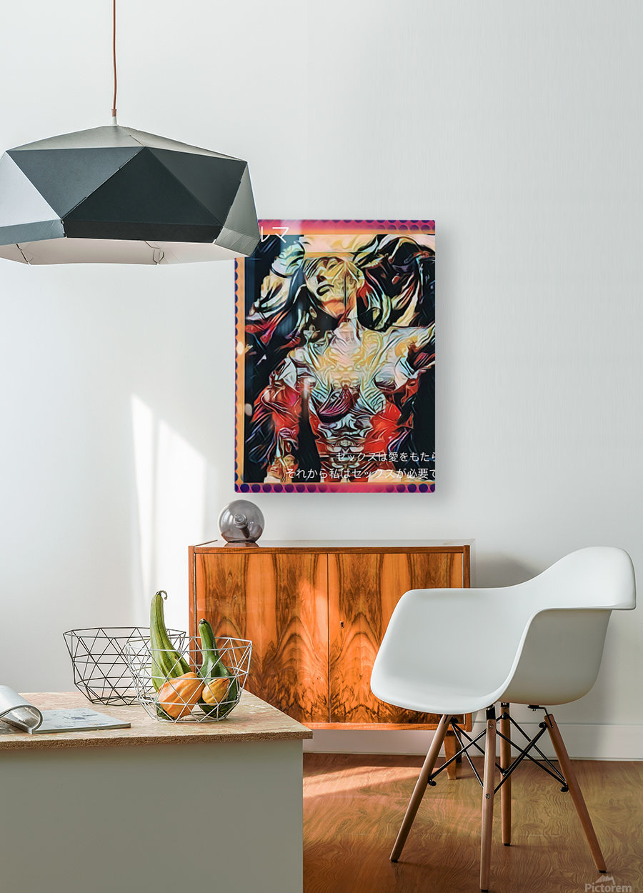 Sex Sells  HD Metal print with Floating Frame on Back