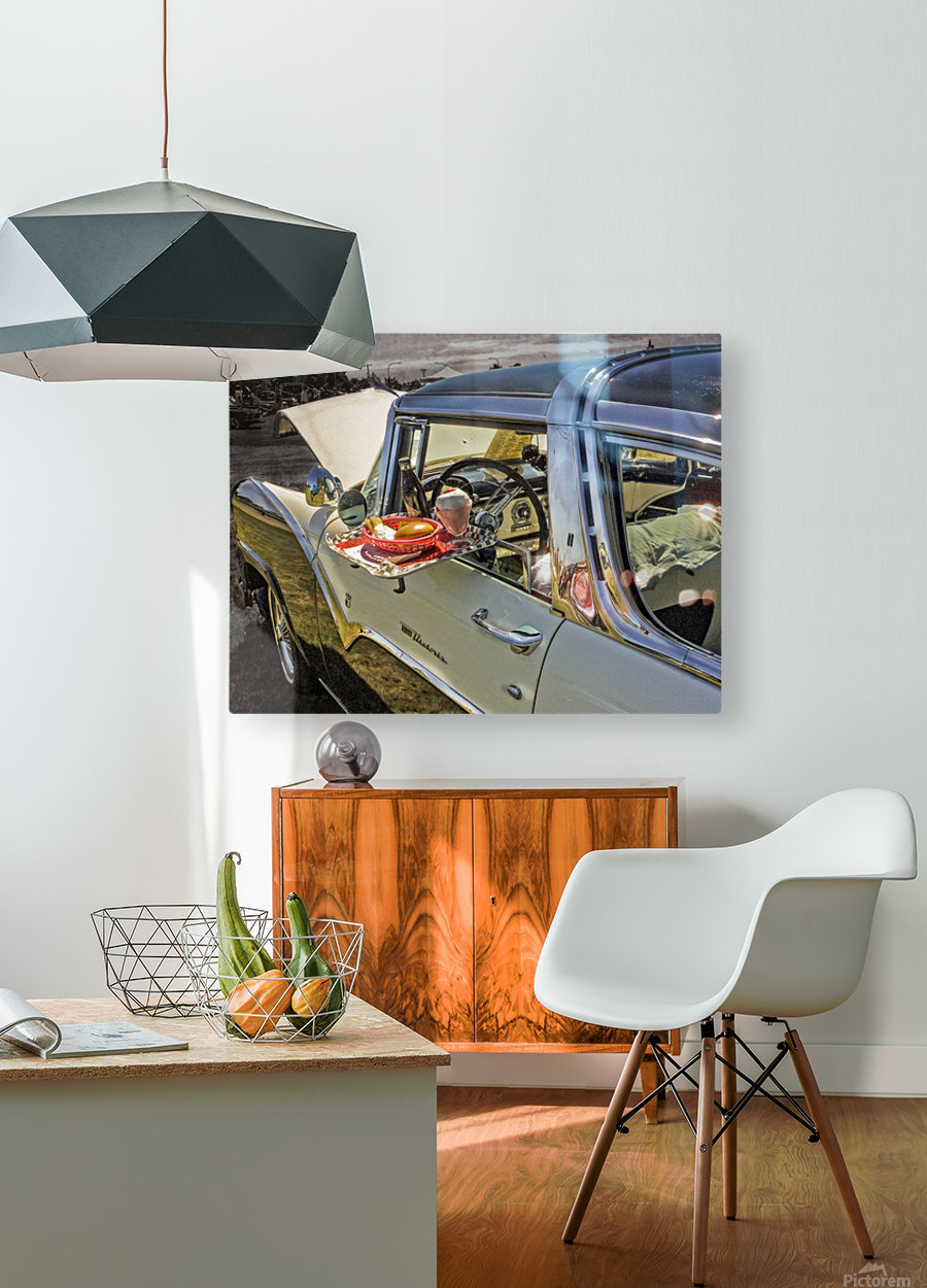 Crown Victoria  HD Metal print with Floating Frame on Back