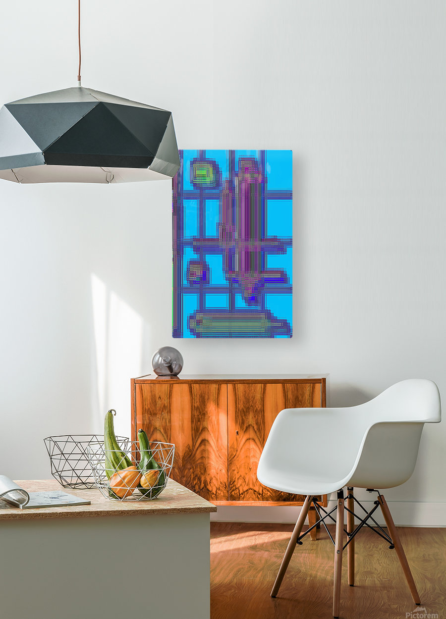 The Kunstruct  HD Metal print with Floating Frame on Back