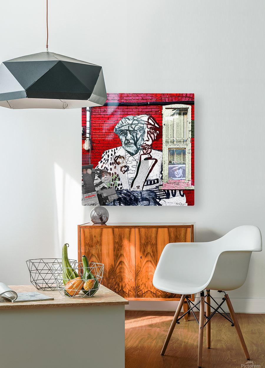 Hommage - Leonard Cohen  HD Metal print with Floating Frame on Back