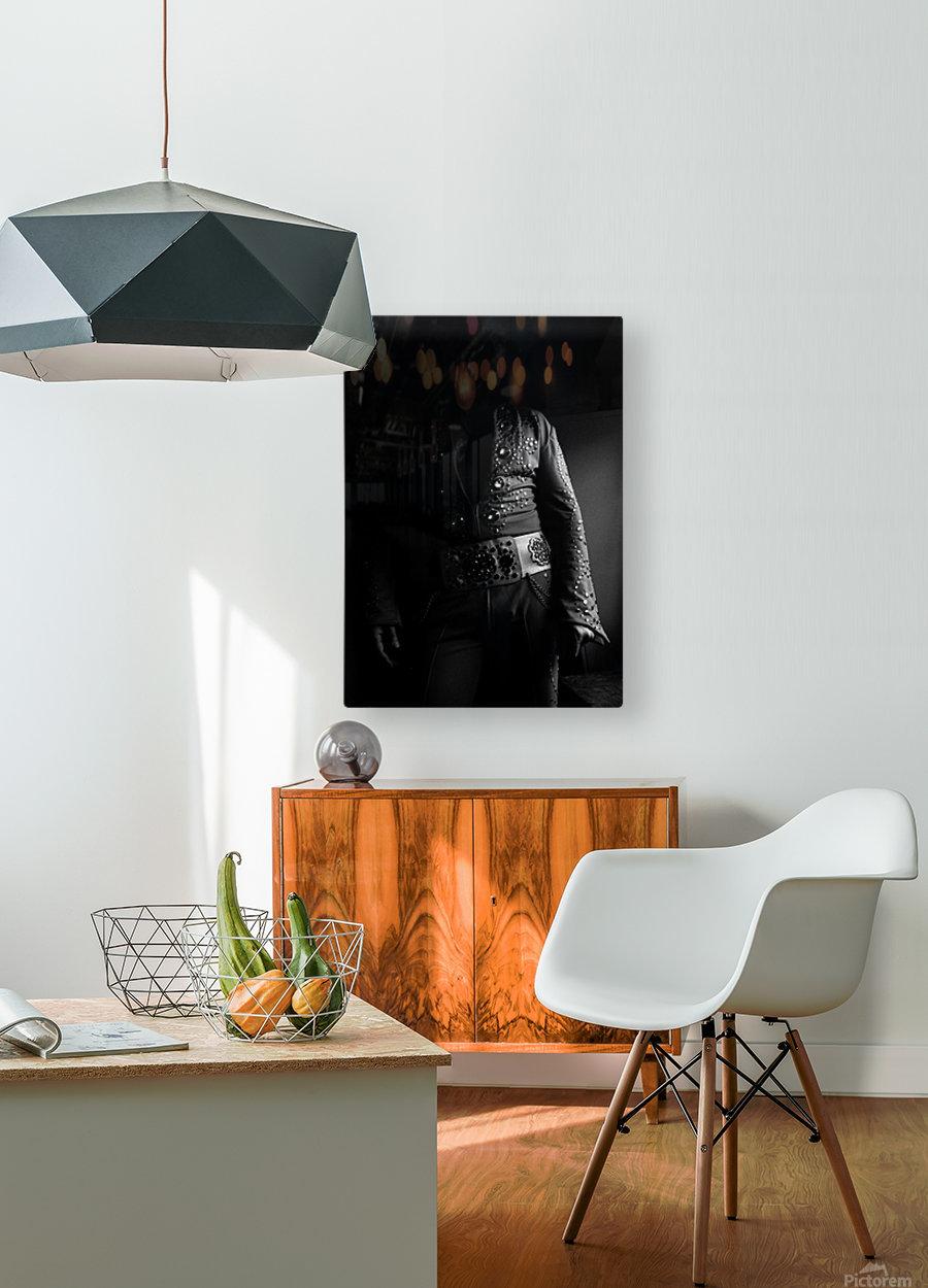 ELVIS  HD Metal print with Floating Frame on Back
