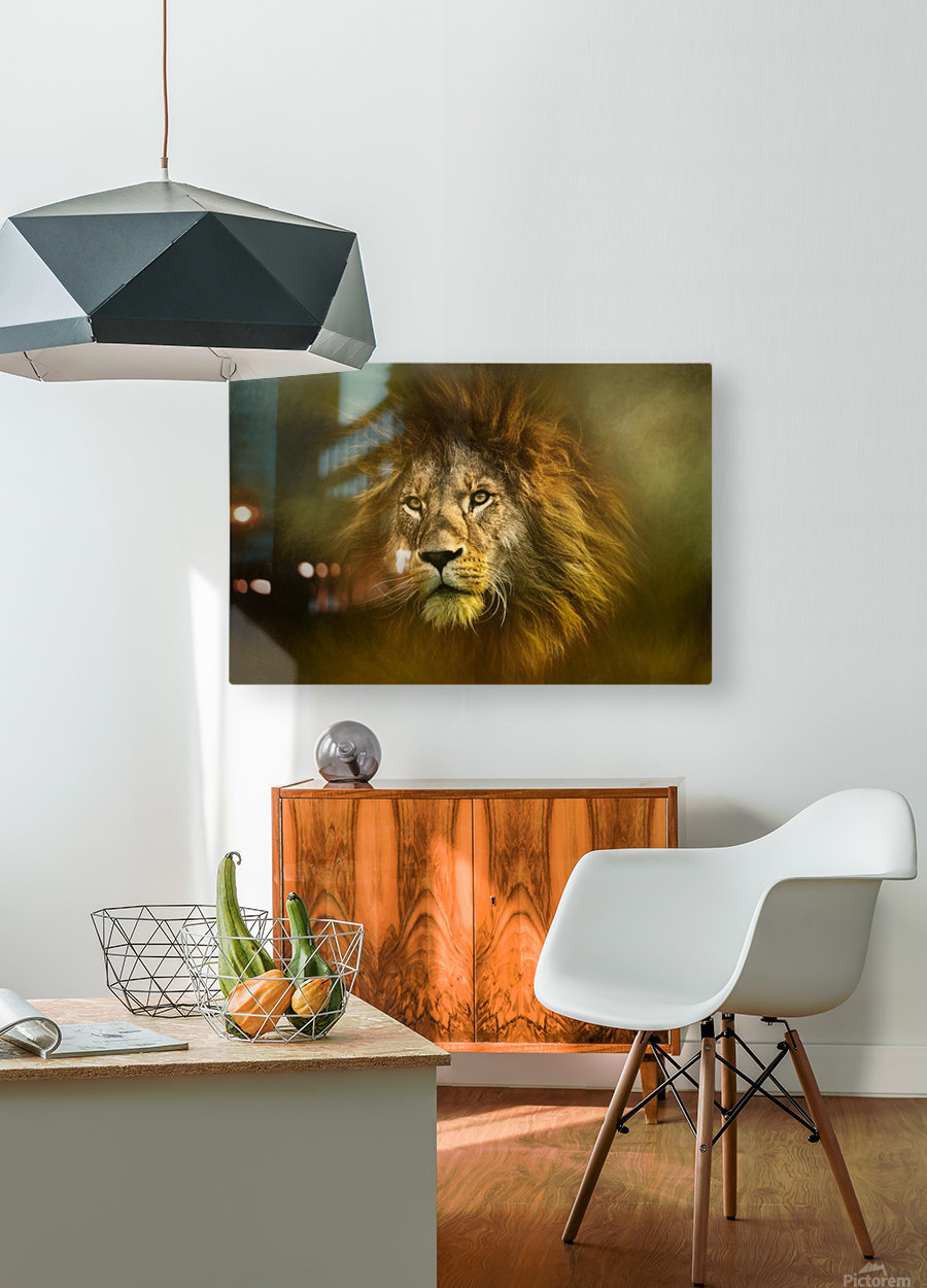 Lion King  HD Metal print with Floating Frame on Back
