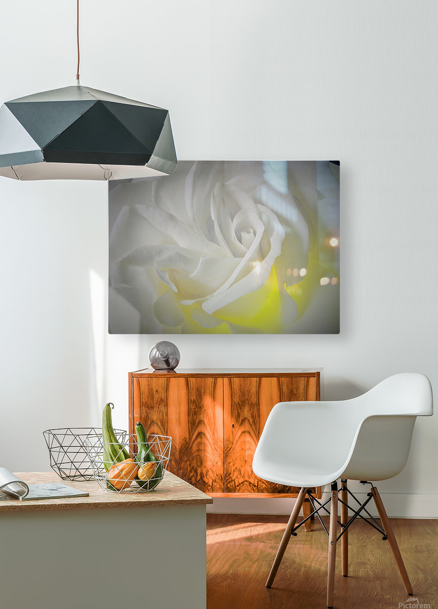 White Layers  HD Metal print with Floating Frame on Back