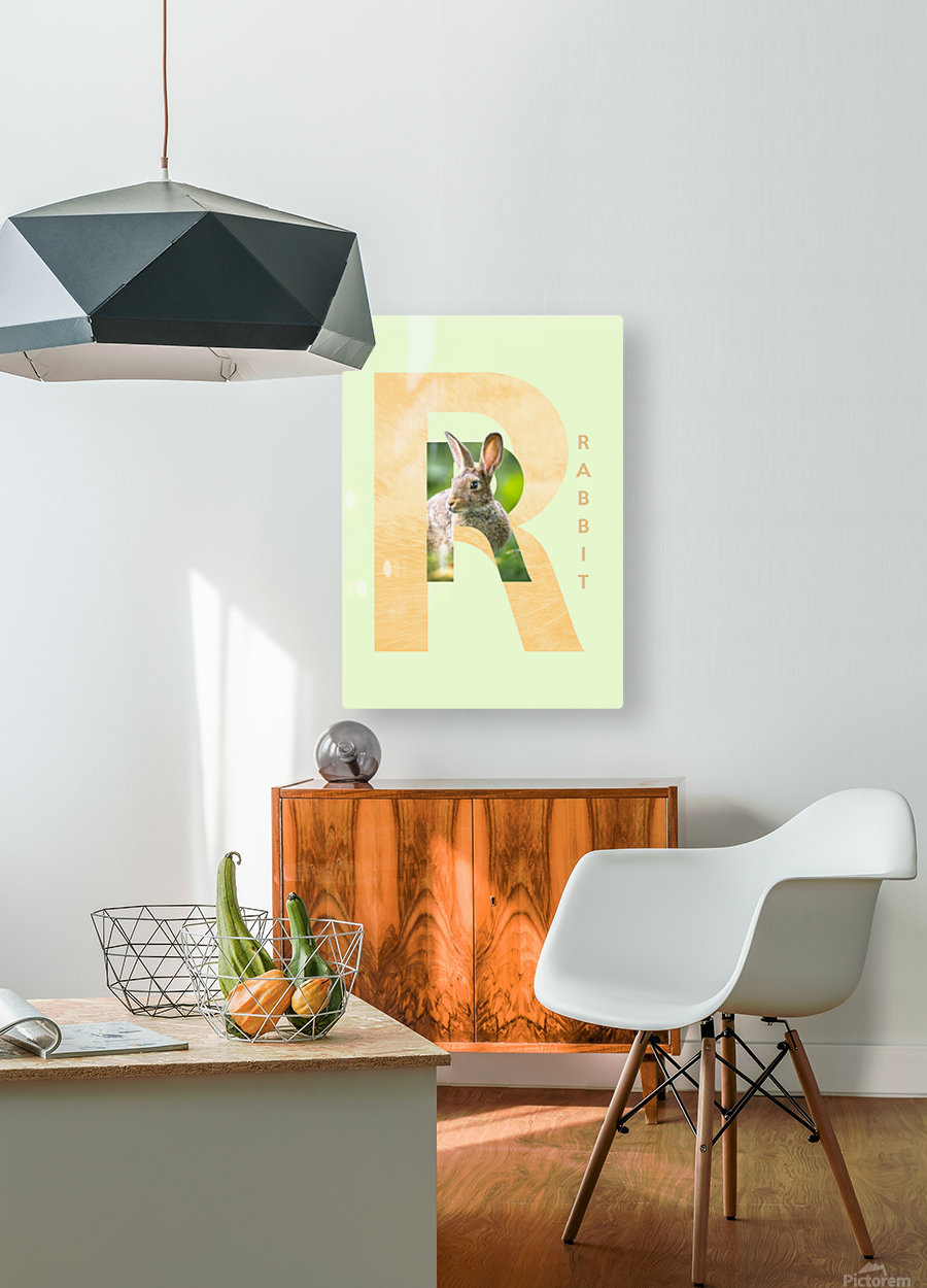 Rabbit  HD Metal print with Floating Frame on Back