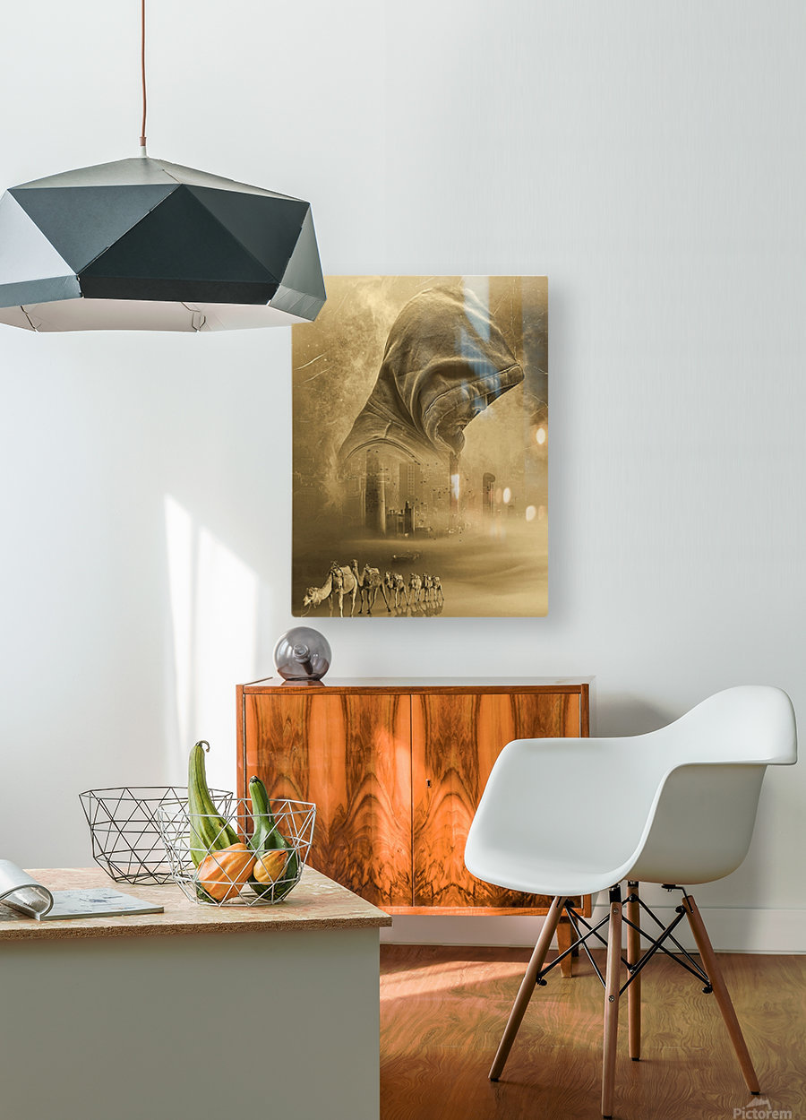 The new dawn  HD Metal print with Floating Frame on Back