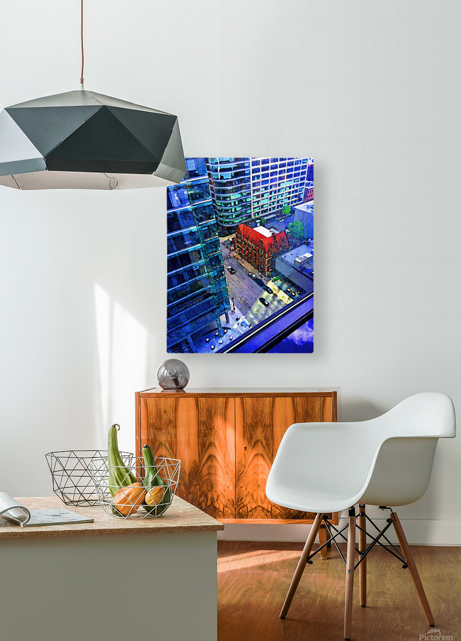 Cement Jungle  HD Metal print with Floating Frame on Back