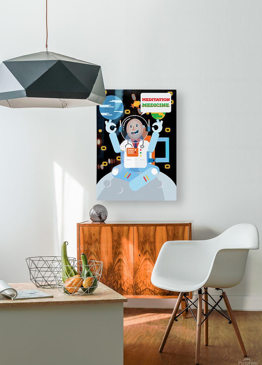 meditation not medicine  HD Metal print with Floating Frame on Back