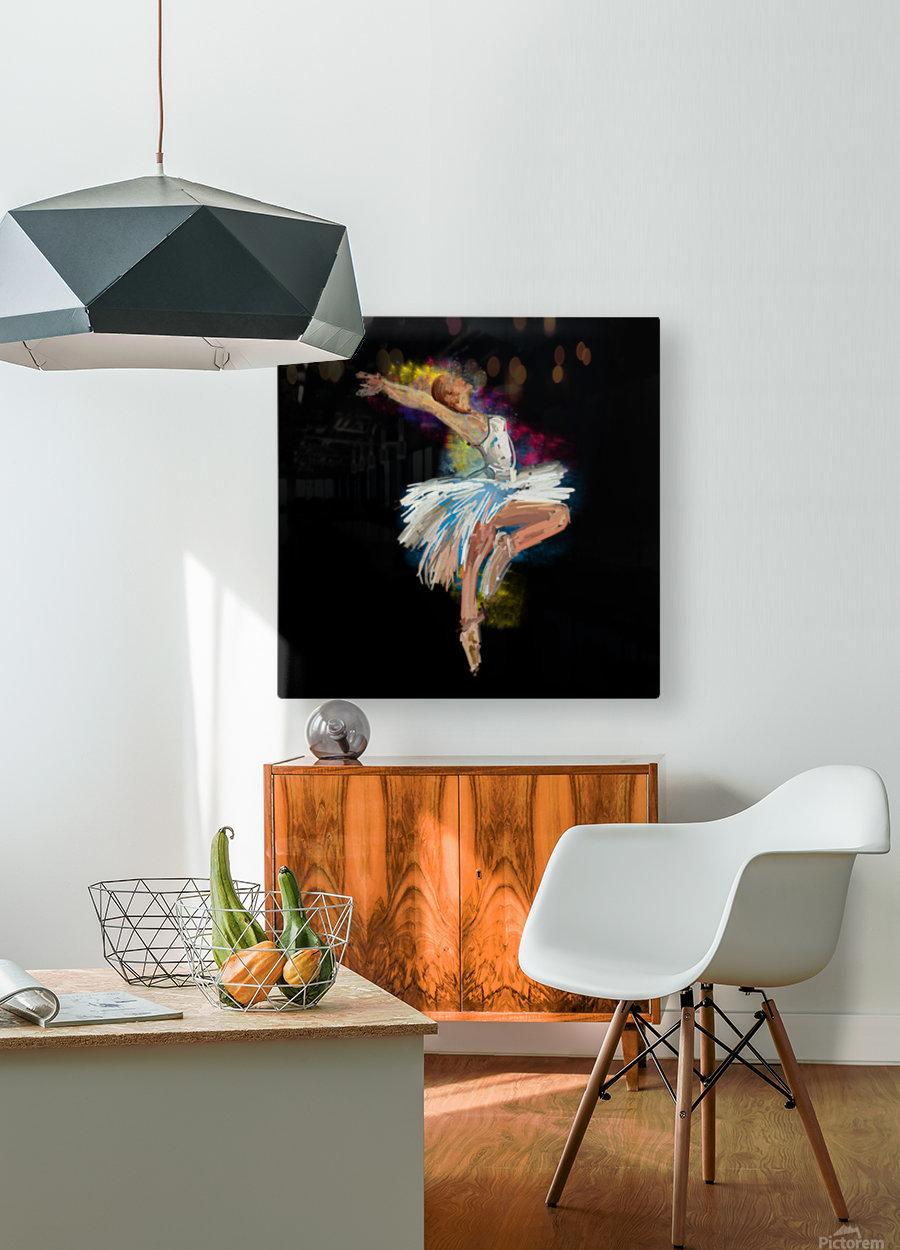 Ballet dancer painting art   HD Metal print with Floating Frame on Back