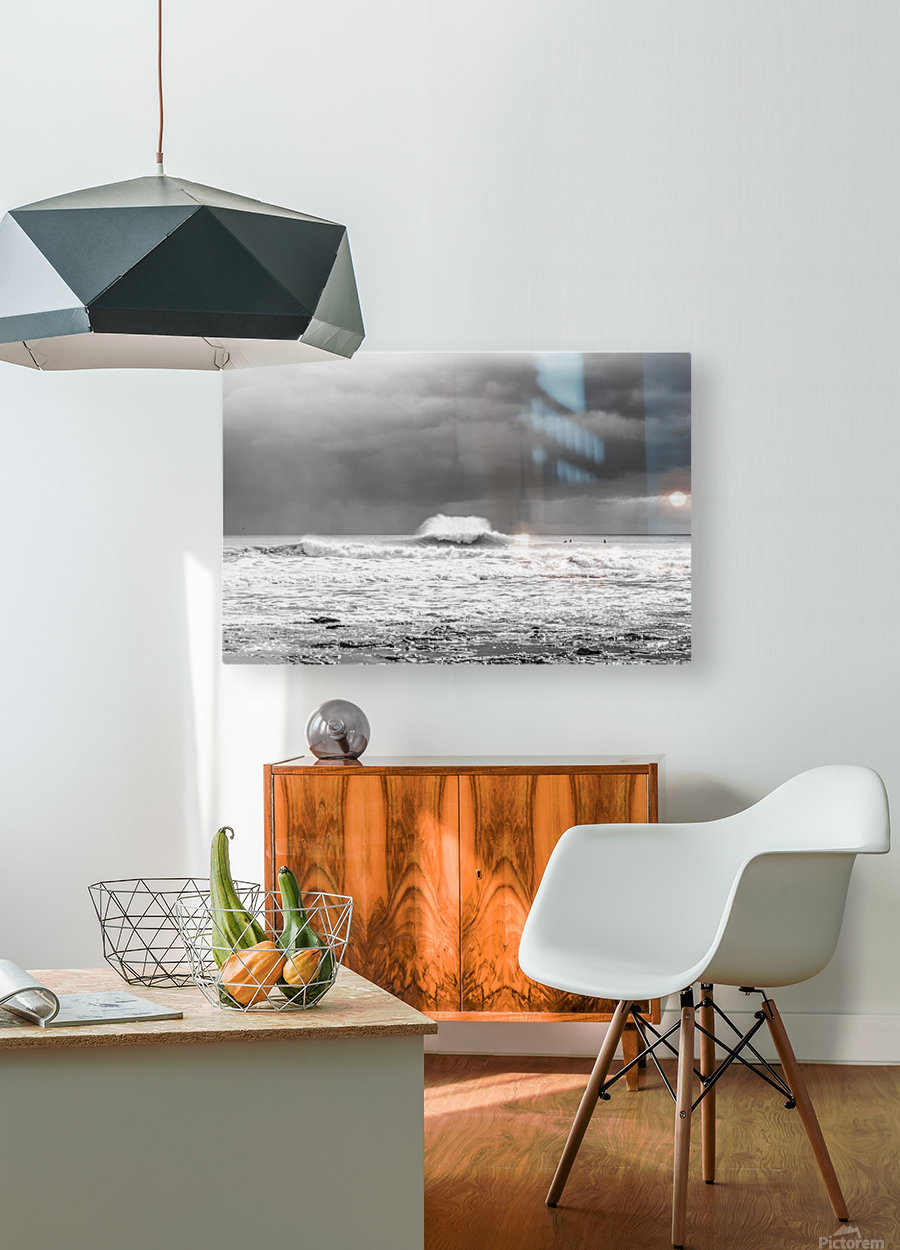 ROGUE WAVE  HD Metal print with Floating Frame on Back