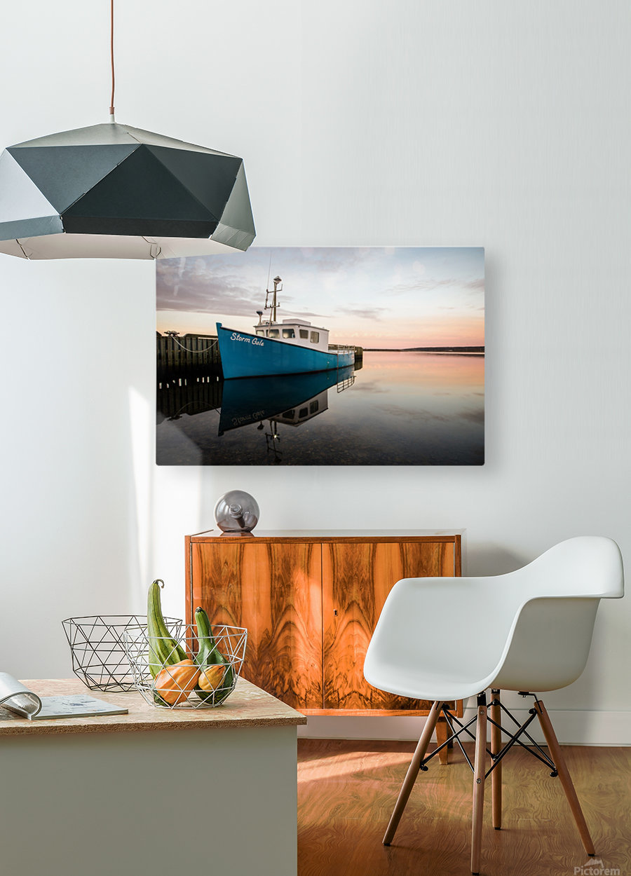 Storm Gale  HD Metal print with Floating Frame on Back