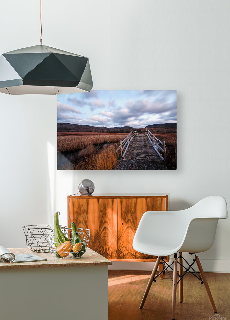 Passing Clouds  HD Metal print with Floating Frame on Back