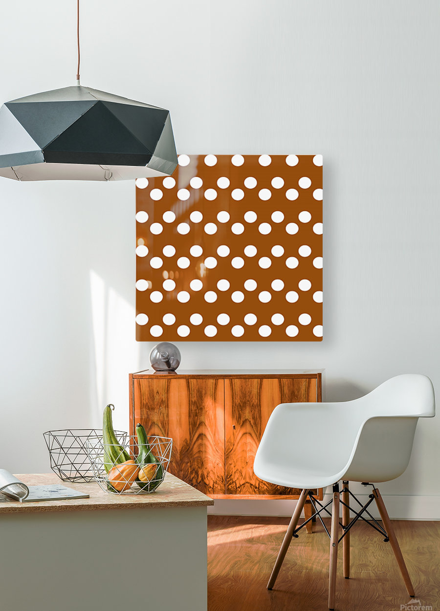 RUST Polka Dots  HD Metal print with Floating Frame on Back
