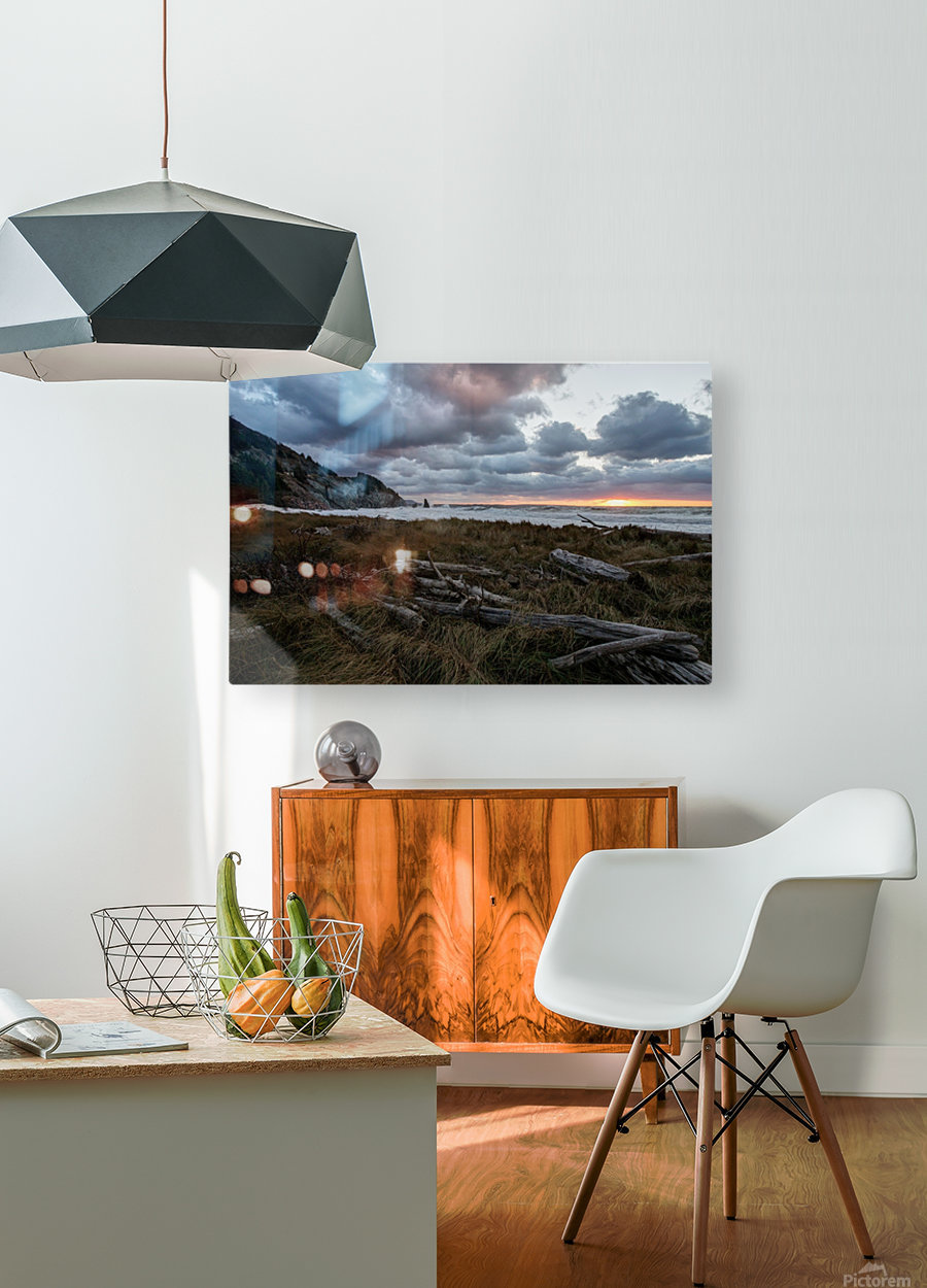 Presquile Sunset  HD Metal print with Floating Frame on Back