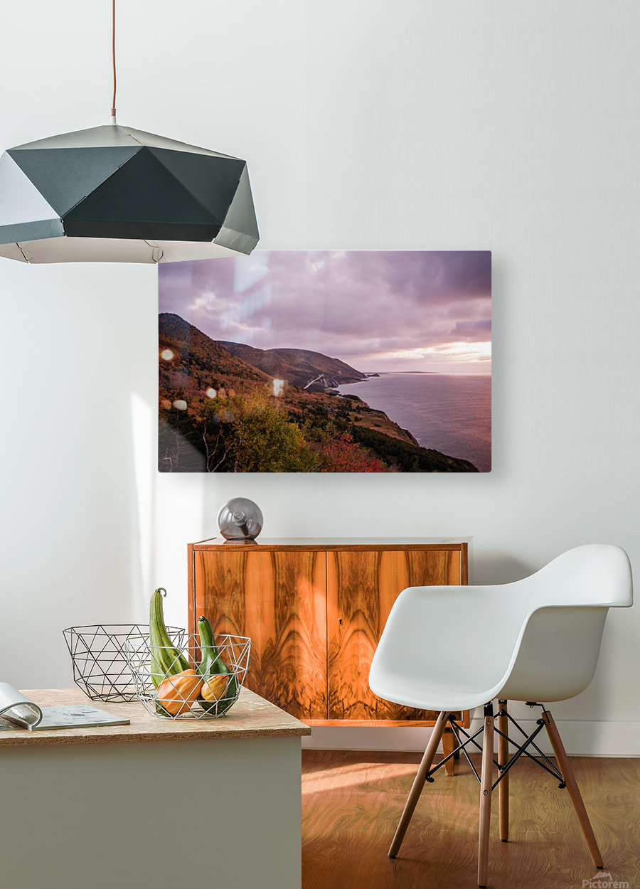 Cabot Trail in the fall  HD Metal print with Floating Frame on Back