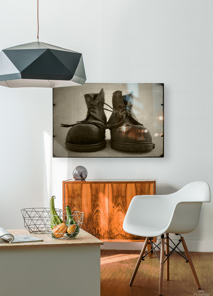 OLD BOOTS  HD Metal print with Floating Frame on Back