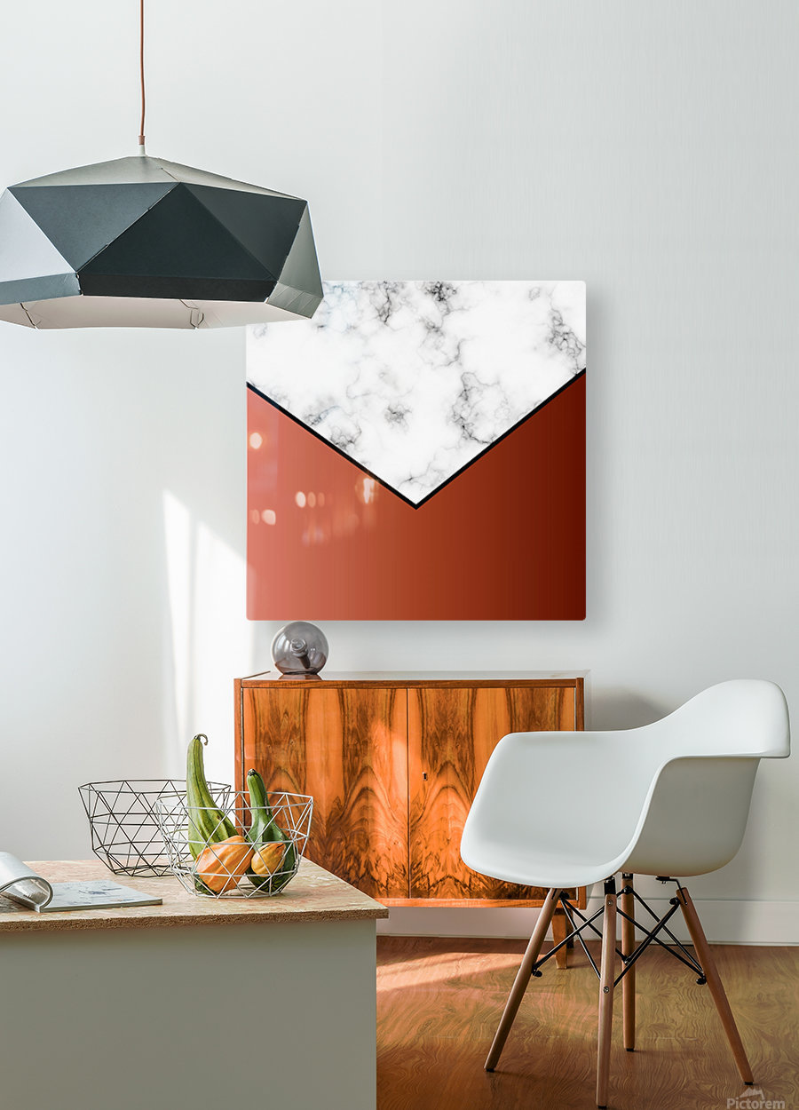 ABSTRACT BRICK MODERN MARBLE  HD Metal print with Floating Frame on Back