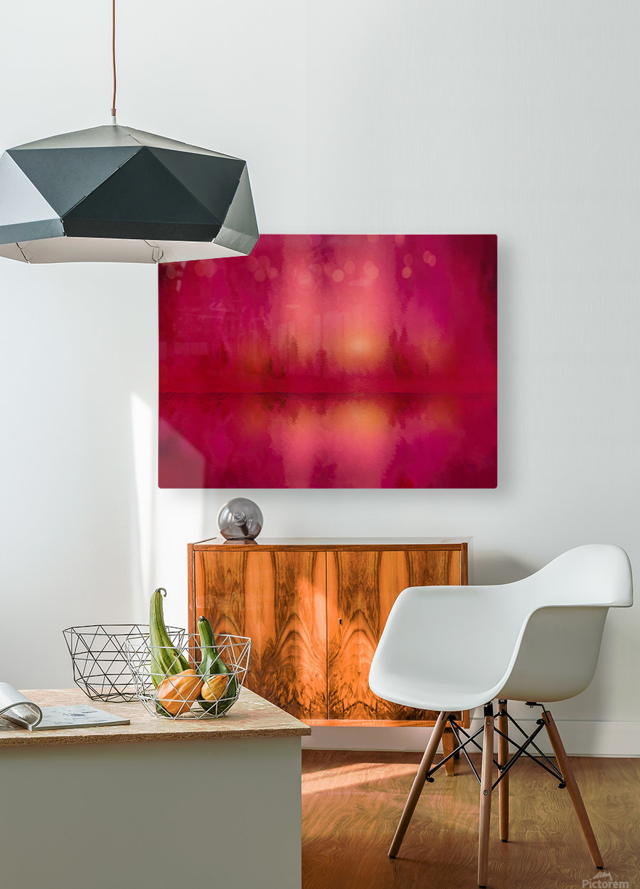 Red Sky at Night  HD Metal print with Floating Frame on Back