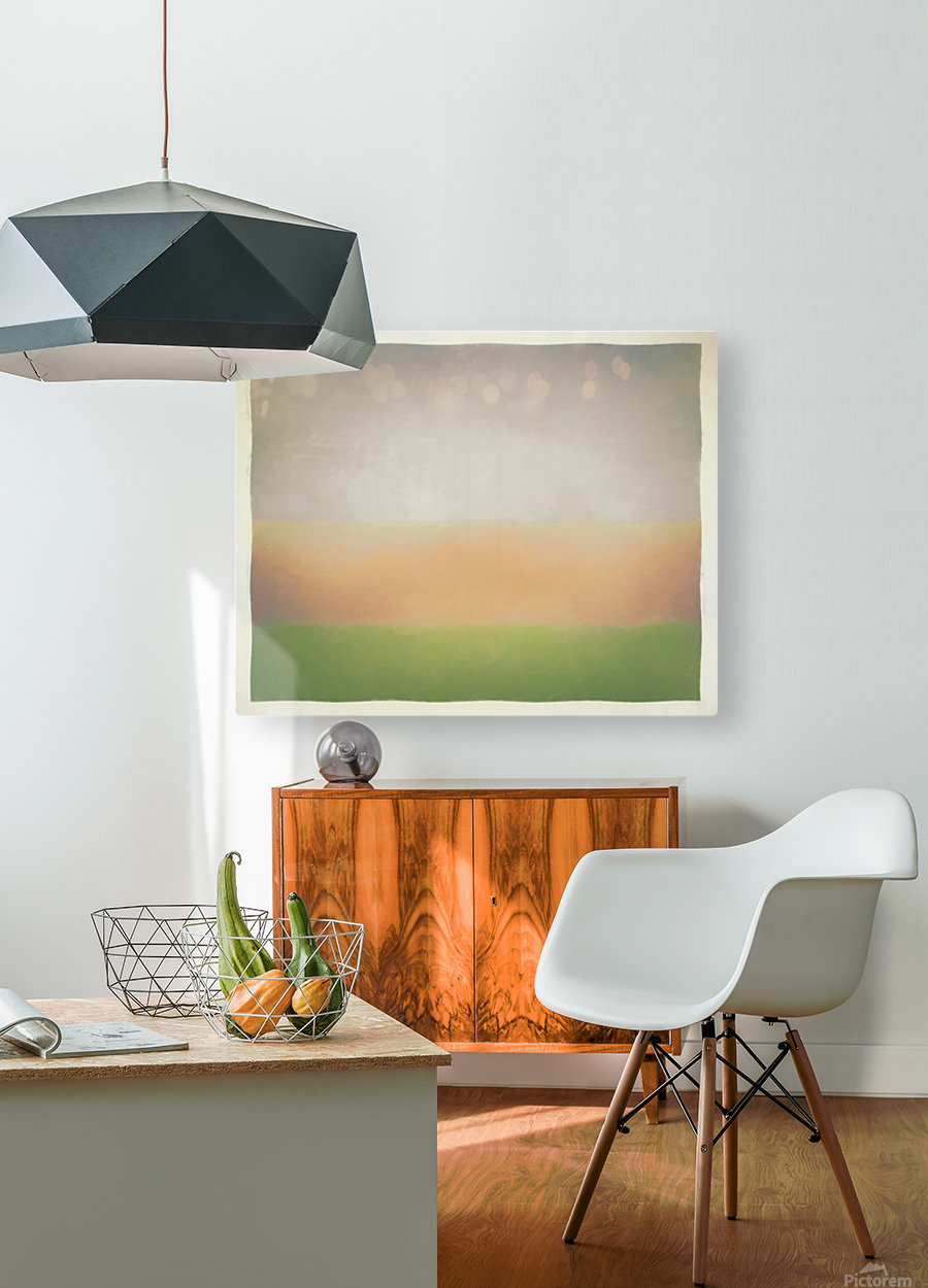 Stratified  HD Metal print with Floating Frame on Back