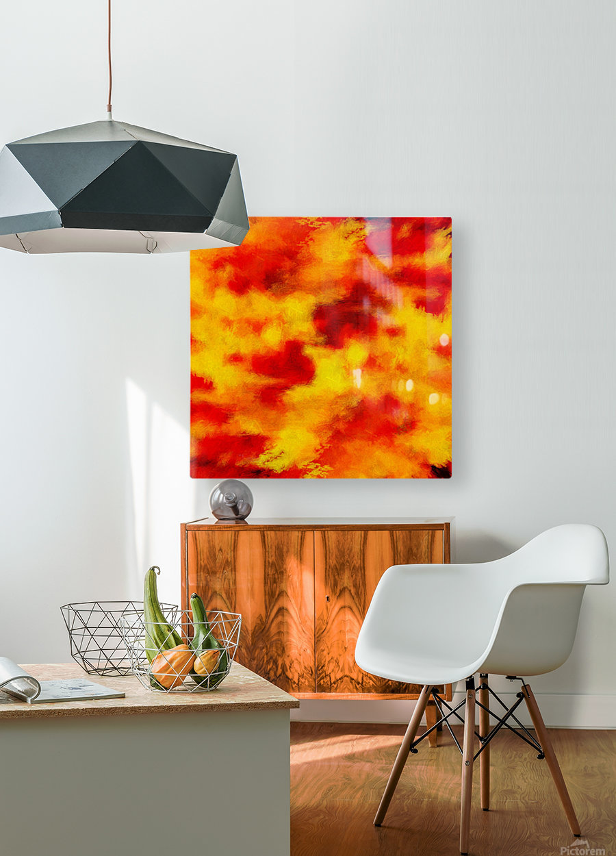 Inferno  HD Metal print with Floating Frame on Back