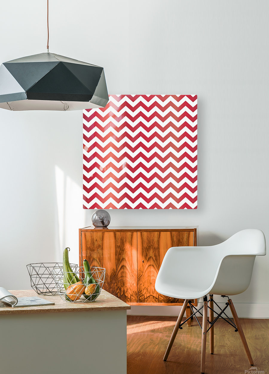 APPLE CHEVRON  HD Metal print with Floating Frame on Back