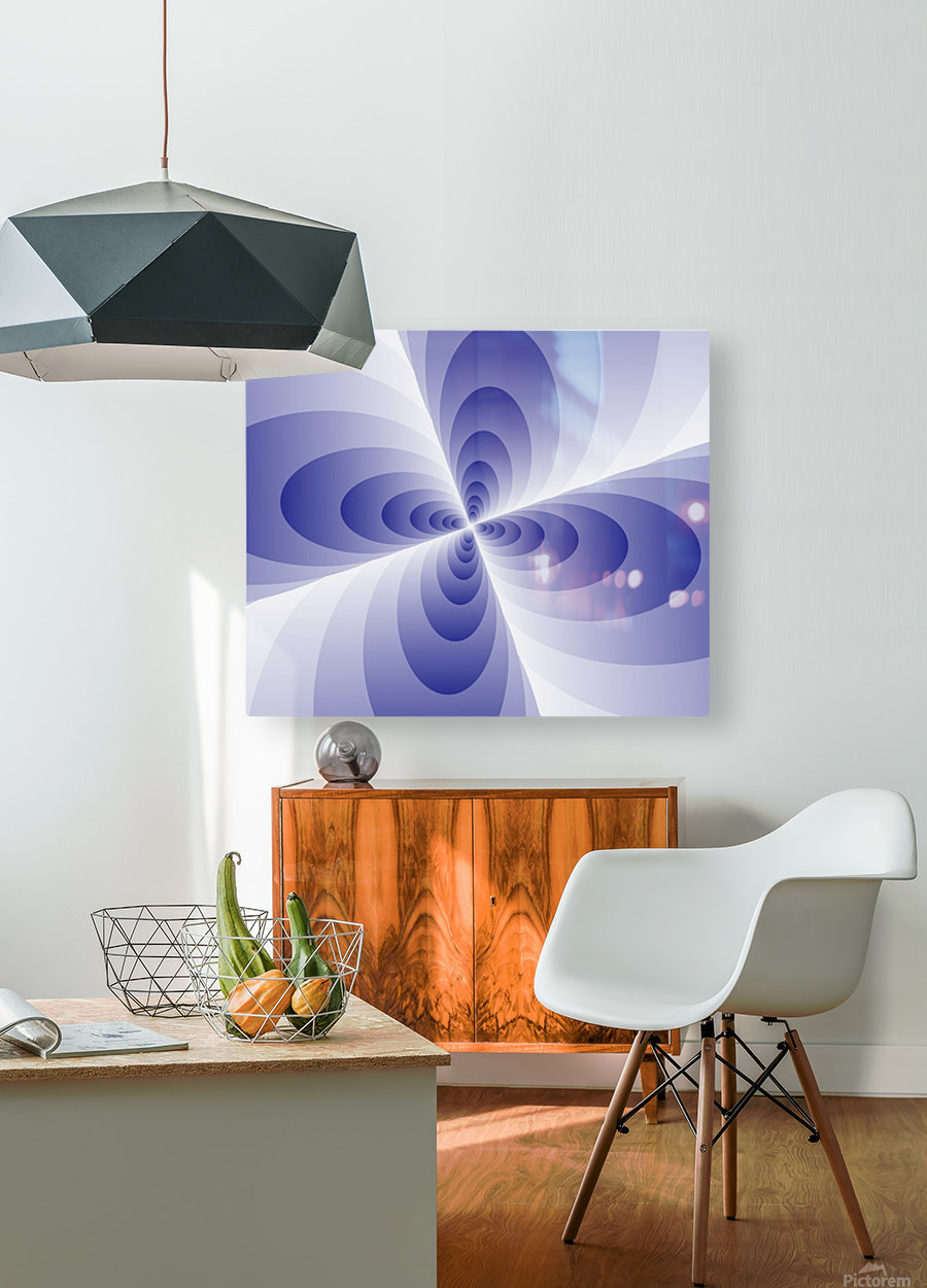 Circles  HD Metal print with Floating Frame on Back