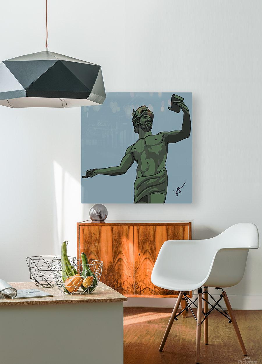 Greek Orator  HD Metal print with Floating Frame on Back