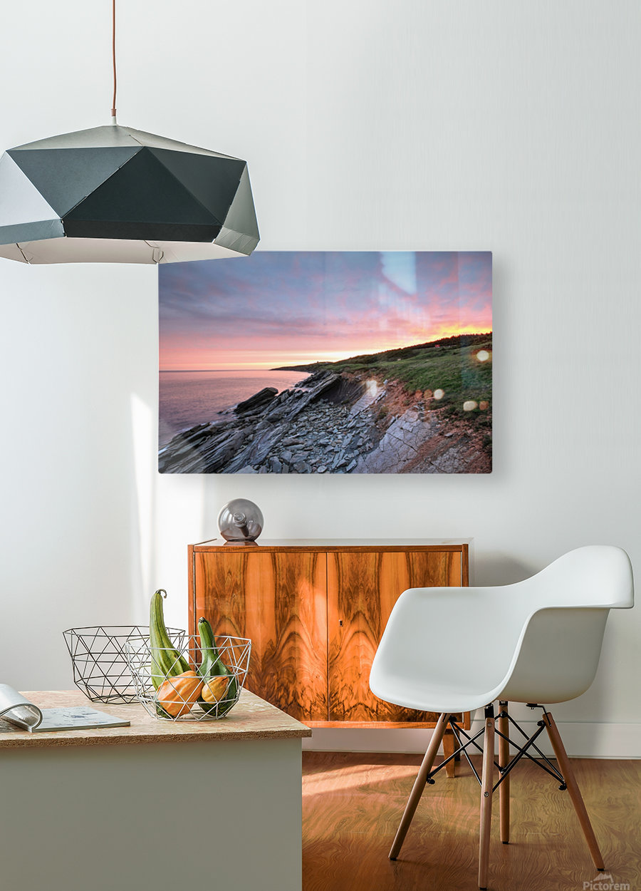 Fire Sky  HD Metal print with Floating Frame on Back