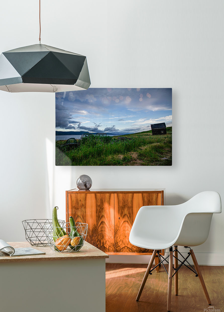 Island shack  HD Metal print with Floating Frame on Back