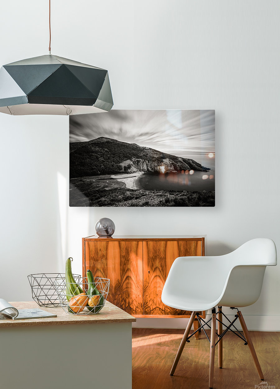 Fishing Cove  HD Metal print with Floating Frame on Back