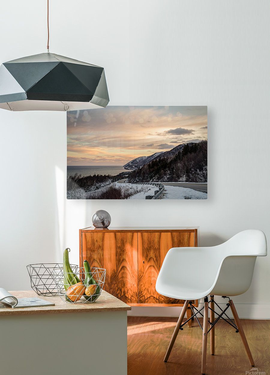 Winter Sunrise  HD Metal print with Floating Frame on Back