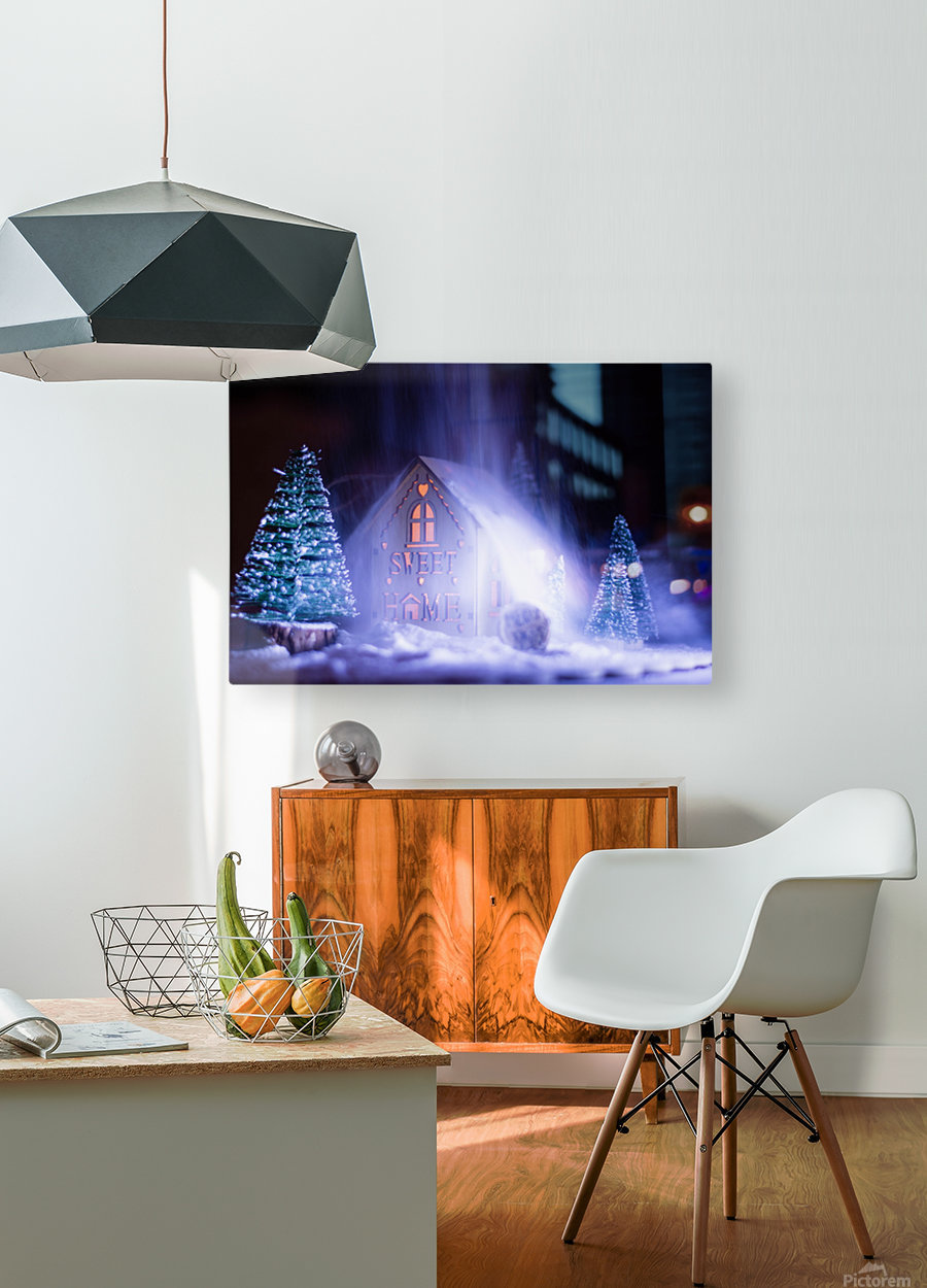 Christmas is coming  HD Metal print with Floating Frame on Back