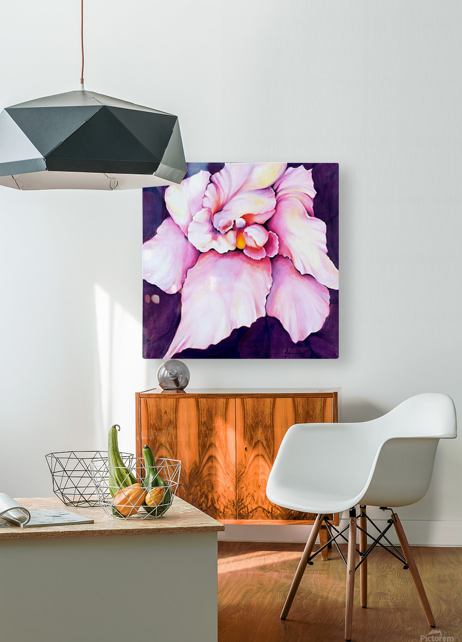 THE ORCHID  HD Metal print with Floating Frame on Back