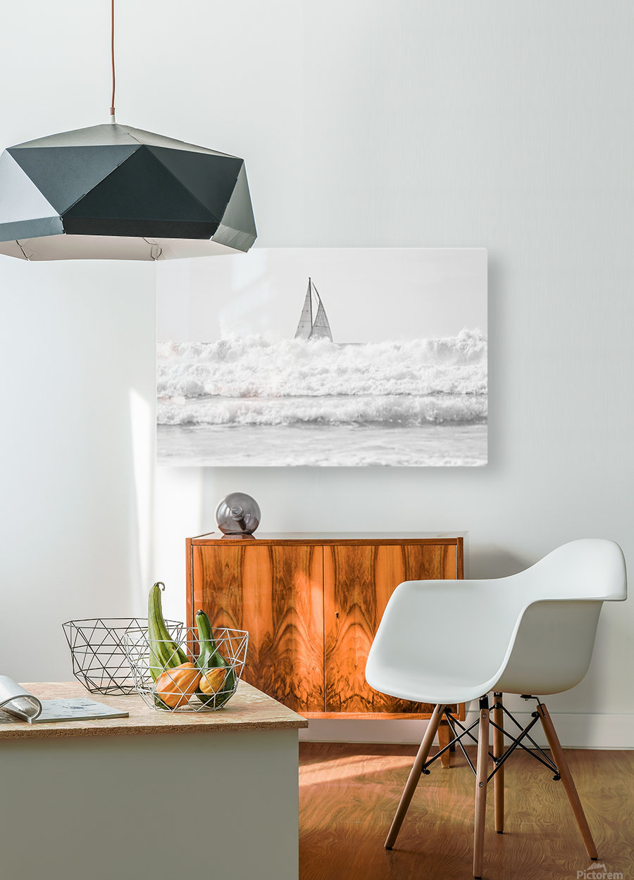 SAILING IN THE SURF  HD Metal print with Floating Frame on Back