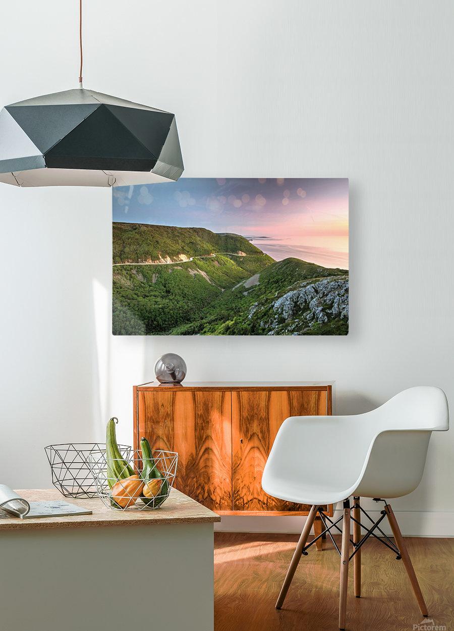 Skyline Sunset  HD Metal print with Floating Frame on Back