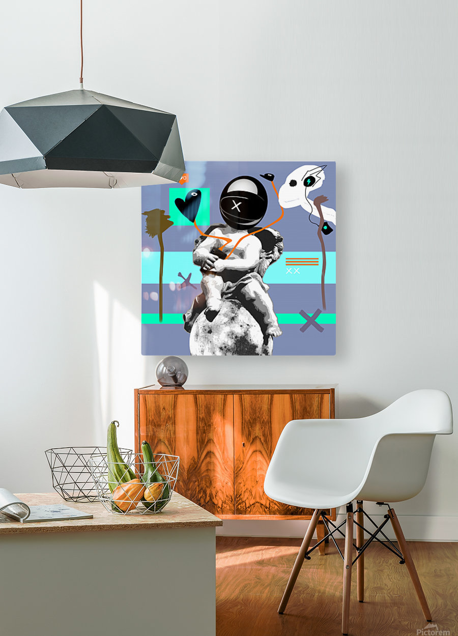 Waiting for Likes  HD Metal print with Floating Frame on Back