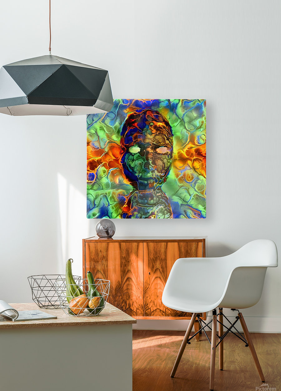 The Mask  HD Metal print with Floating Frame on Back