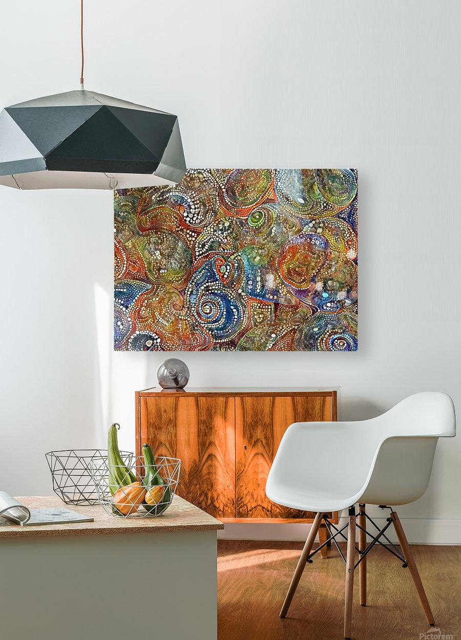 Mosaic Seashells  HD Metal print with Floating Frame on Back