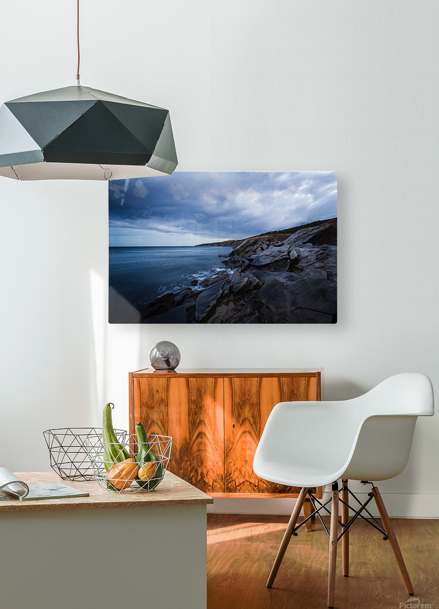 Deep Blue  HD Metal print with Floating Frame on Back