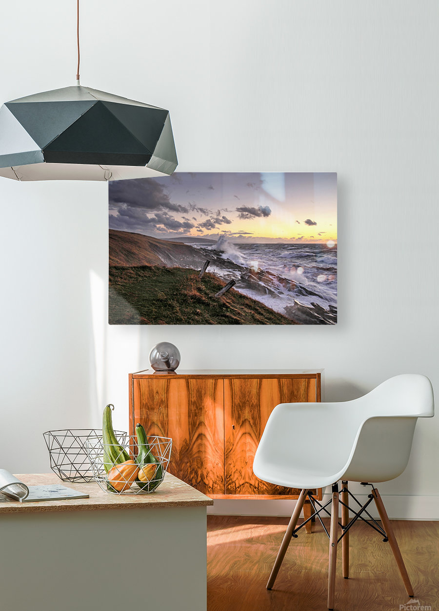 Furious Ocean  HD Metal print with Floating Frame on Back