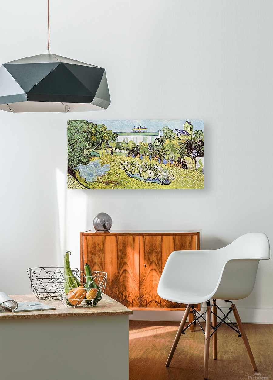 The garden of the Daubignys by Van Gogh  HD Metal print with Floating Frame on Back