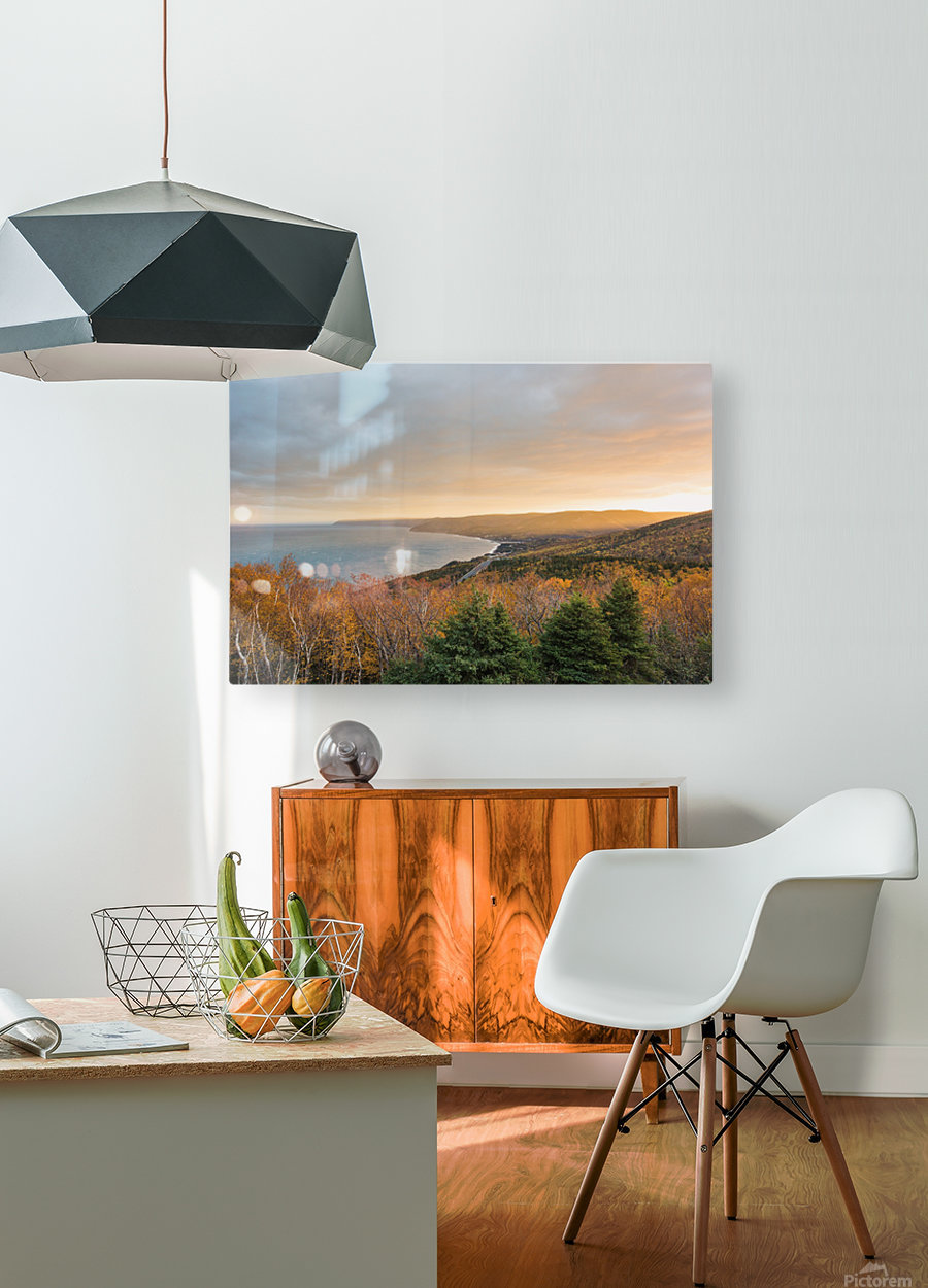 Rising Light  HD Metal print with Floating Frame on Back