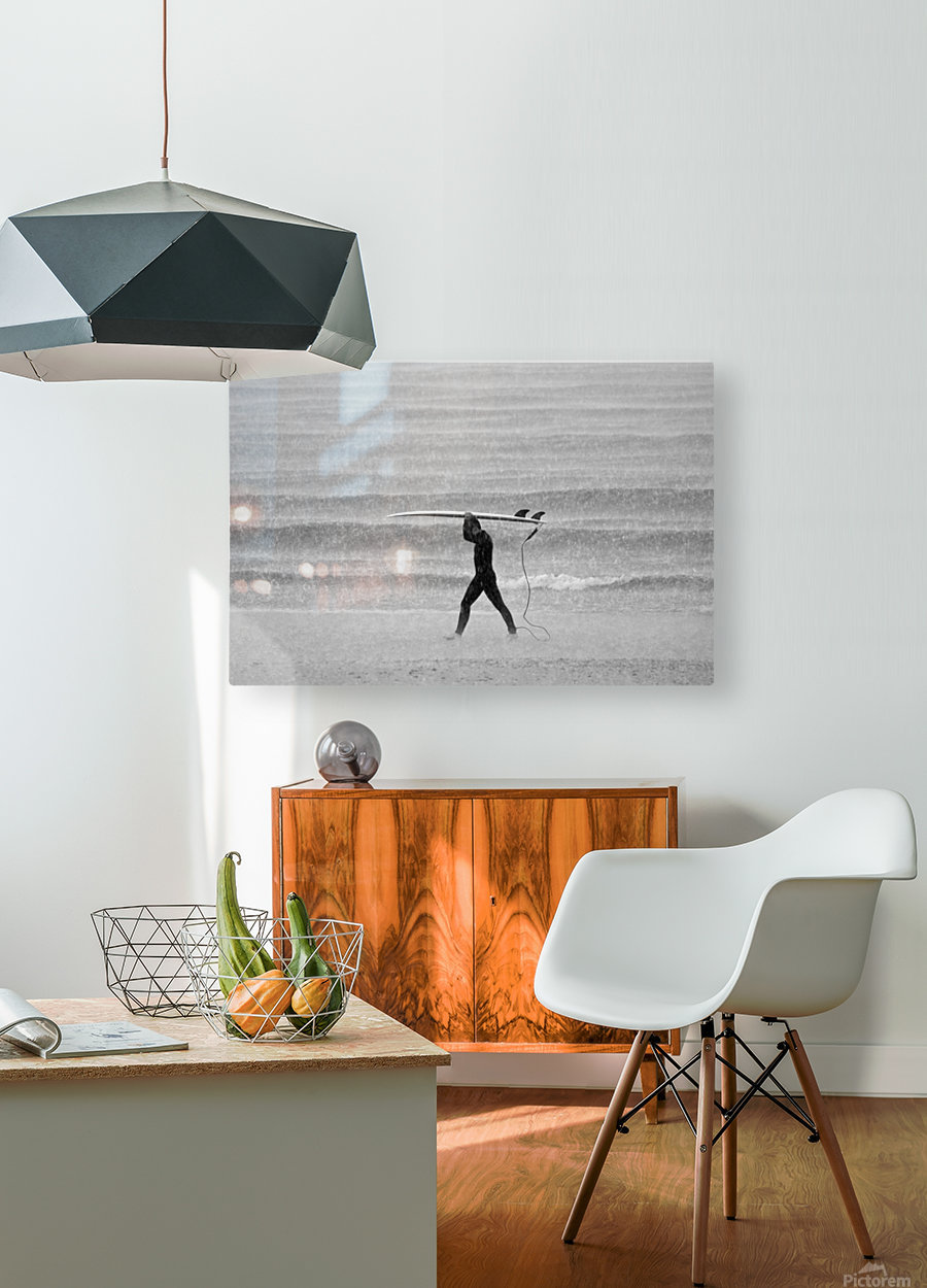 MONSOON SURFER  HD Metal print with Floating Frame on Back